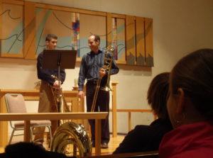 Craig Mulcahy, trombonist working with Joe Buono